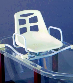 Asiento giratorio para la bañera en aluminio - Ortopedia ITOMI