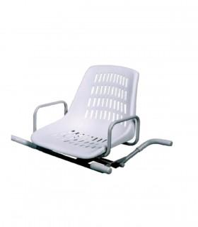 Asiento giratorio para bañera en acero inoxidable - Ortopedia ITOMI