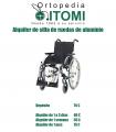 Alquiler silla de ruedas de aluminio plegable